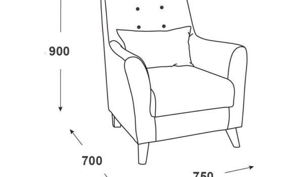 Схема кресло Домино